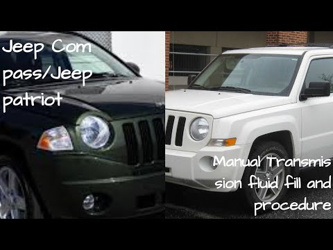 Jeep Patriot Compass Manual Transmission Fluid Fill Procedure And Removal How To Remove And Fill Youtube