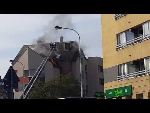 Pożar We Wrocławiu Na Ulicy Krzyckiej 88