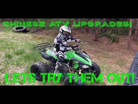 trying out the new parts ! chinese ATV upgrades part 3!!