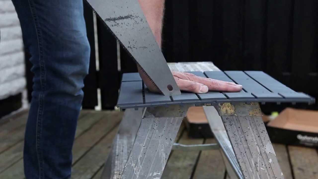 Inredning trall till balkong : Golvruta enkel att lägga på altan, terrass och balkong. - YouTube