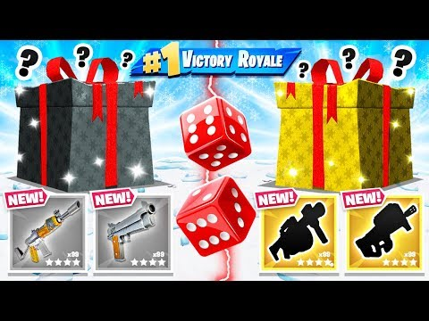 RANDOM Present DICE CHOOSER *NEW* Game Mode in Fortnite Battle Royale