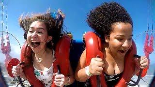 GIRLS   Funny Slingshot Ride Compilation