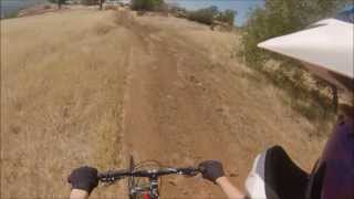 DOWNHILL MOUNTAIN BIKING - NORTH RIM TRAIL - CHICO CALIFORNIA