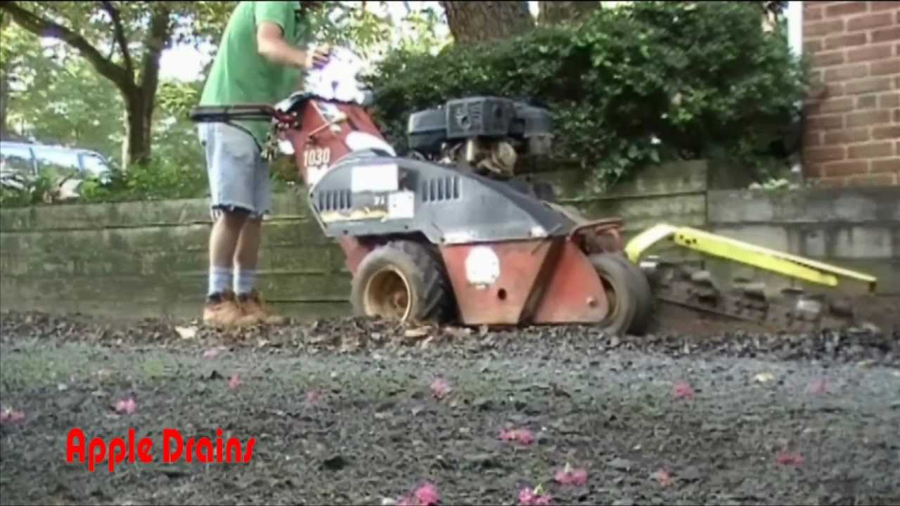 Back Yard Sump Pump With French Drain, Get Rid Of The Flood   YouTube