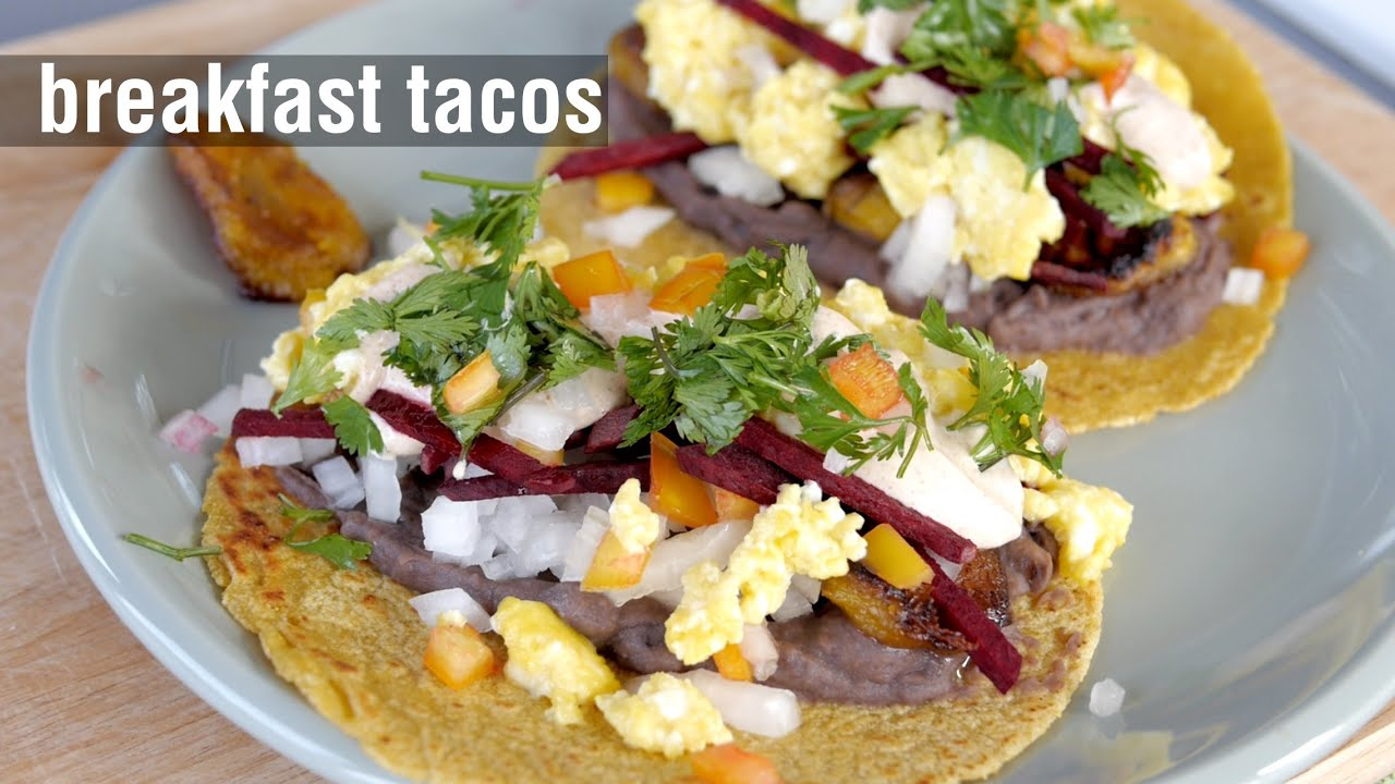 Breakfast tacos homemade corn tortillas cooking youtube ccuart Choice Image
