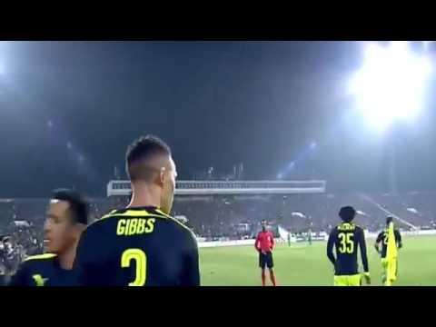 Ludogorets vs Arsenal 2-3 Mesut Özil Harika Gol 01/11/2016
