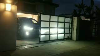 Globus Aluminum Gates Los Angeles globusgates.com  tandom gate system, Rustfree aluminum Gates