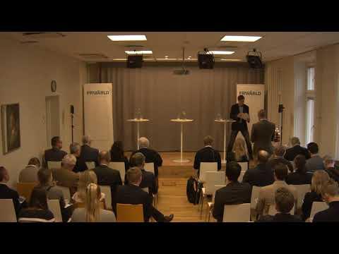 Emanuel Örtengren och Arvid Åhlund på Frivärlds rapportlansering 'Ett ensamt Europa?'