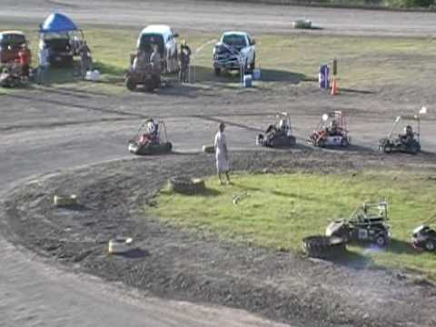Part 6 of 6 Brennan Riley South Texas Speedway Fathers Day June 21 2009 A Main Feature Go Kart Race