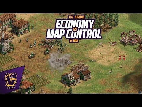 Economy vs Map Control | 1v1 Arabia vs MbL