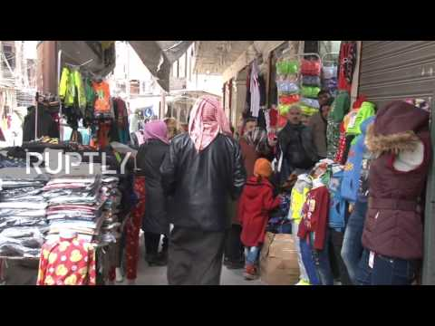 Syria: Aleppo's famous street market reopens after two years of closure