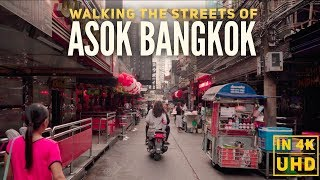 Asok Bangkok Street Walk Christmas and Neighborhood Guide in 4K UHD