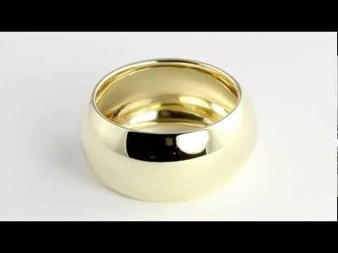 10K Gold Classic Lightweight Tubular Wedding Band. http://bit.ly/377csoh