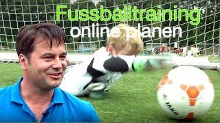 Wie Frank sein Fussballtraining für Kinder online plant