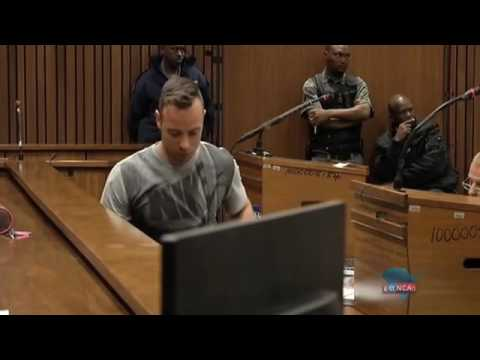 Pistorius demonstrates standing on his stumps