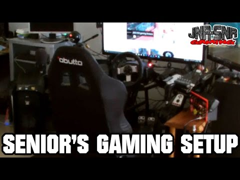 Senior's Gaming Setup and House Tour | JNR-SNR gaming