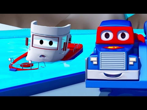 Carl the Super Truck saves Bobby the Boat of Car City 🛥️🚛 Trucks Cartoon for Kids