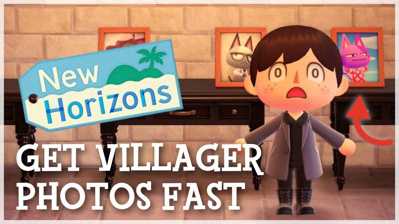 Animal Crossing New Horizons - Get Villager Photos Fast (Best Method)