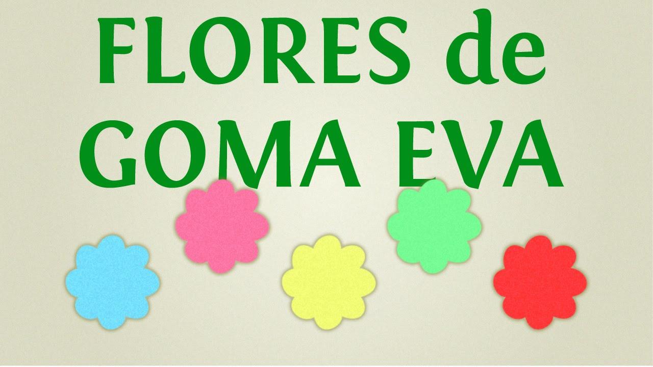 Cómo hacer moldes de flores de goma eva o foami para adornos y ...