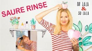 Natürliche Haarpflege DIY * Glanzspülung * Haare leichter bürsten * ohne Tenside & Co. Saure Rinse