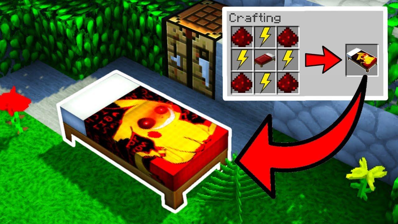 La cama de pikachu exe en minecraft pikachu for Cama minecraft