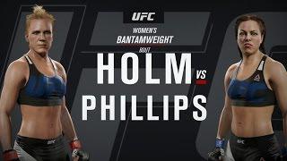 UFC 2 ● HOLLY HOLM VS ELIZABETH PHILLIPS ● ЖЕНСКИЕ БОИ БЕЗ ПРАВИЛ(Игра EA SPORTS UFC 2 выводит симуляторы боев на новый уровень благодаря невероятной правдоподобности персонажей..., 2016-03-28T17:59:28.000Z)