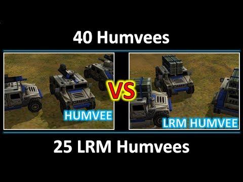 40 Humvees Vs 25 LRM Humvees - Random Battle