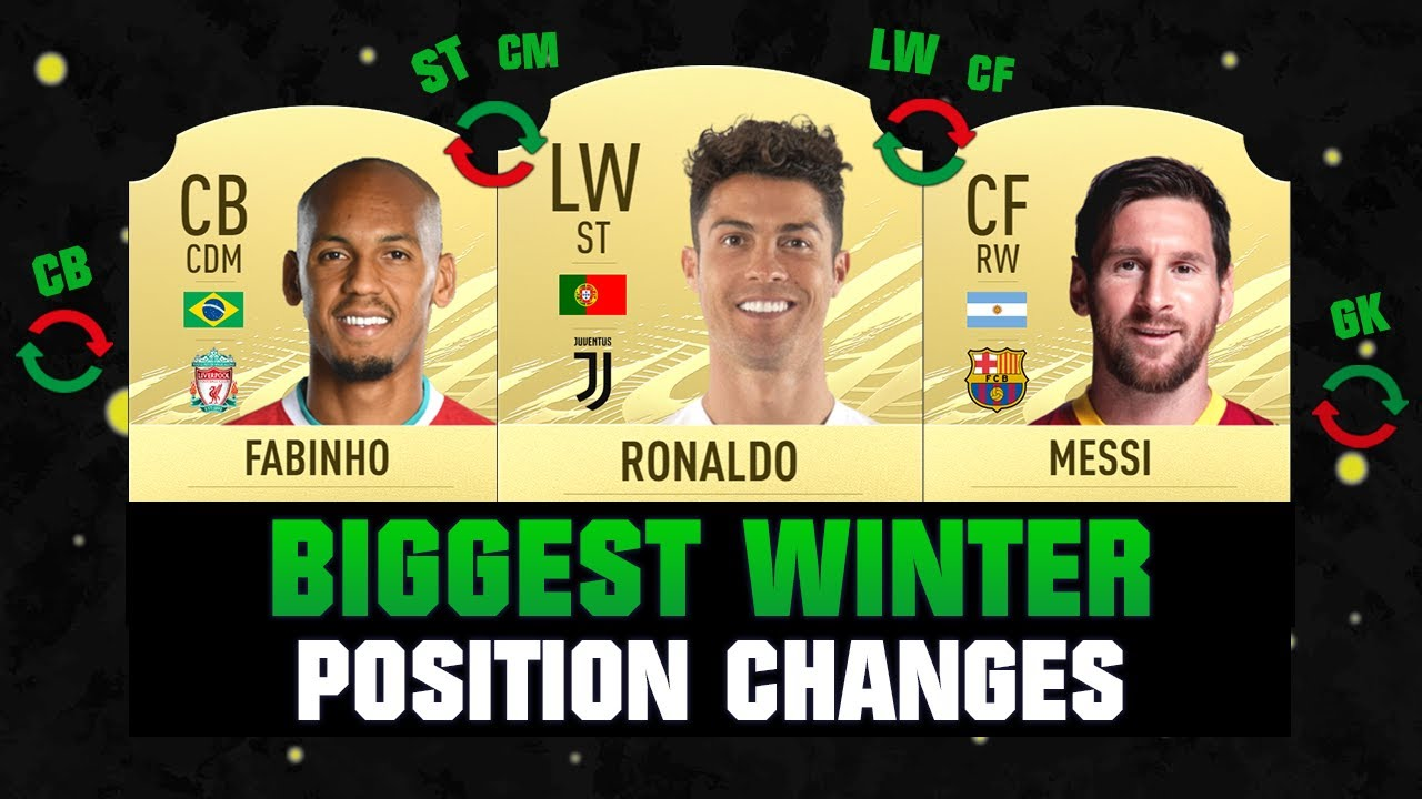 FIFA 21 | BIGGEST WINTER POSITION CHANGES! 😱🔥| FT. RONALDO, MESSI, FABINHO... etc
