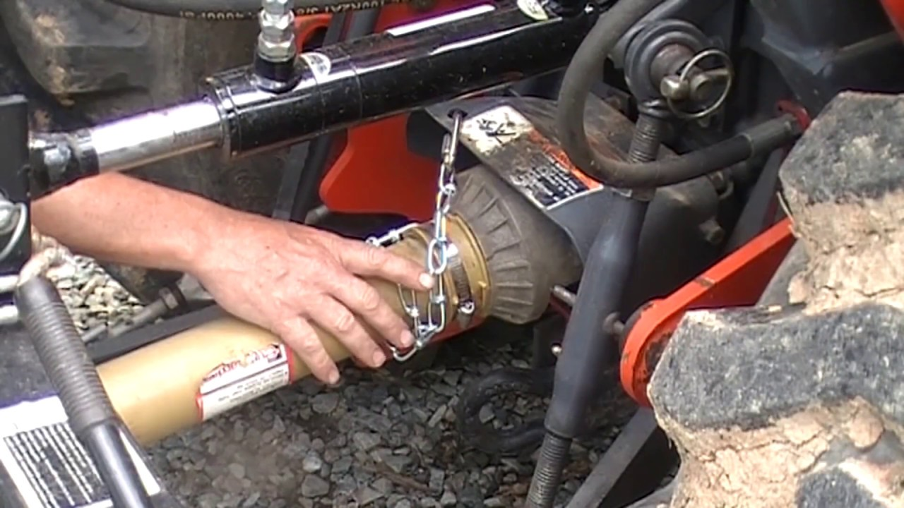 my safety chain broke and a quick fix for the kubota