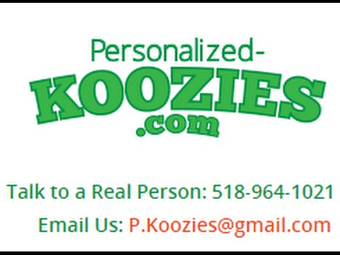 Personalized Koozies - Beer Customized Wedding