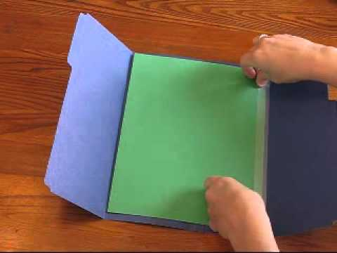 Single Folder Lapbook video tutorial