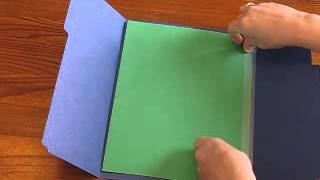 How to make a single- folder lapbook. This will also show you how t...