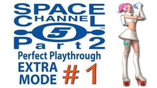 Space Channel 5 part 2 perfect playthrough EXTRA MODE (all secrets) [1/2] 1080p HD