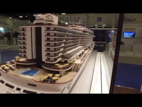 MSC Cruises Seaside Ship Model