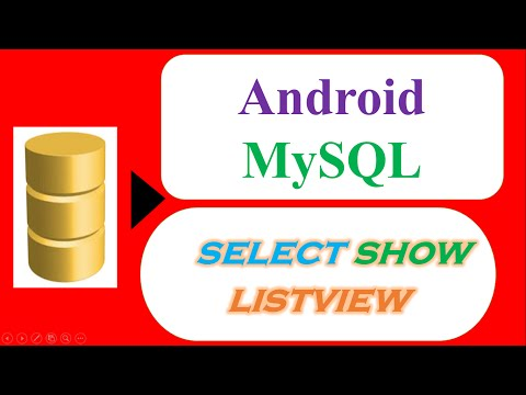 Android MySQL Database 02  - Select and Show In ListView [HttpUrlConnection]