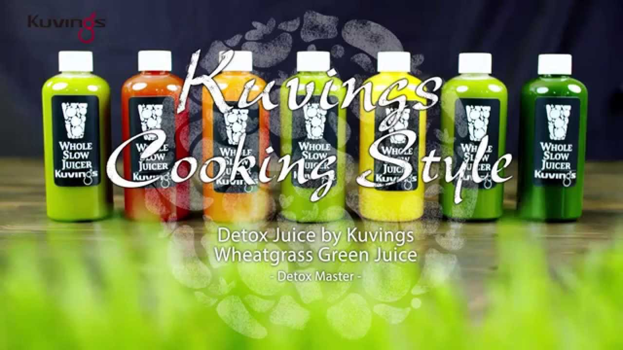 Green Juice Slow Juicer : Kuvings Cooking Style : Detox Juice by Kuvings Whole Slow Juicer Chef-Wheatgrass Green Juice ...