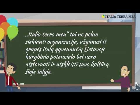 """Presentazione di VšĮ """"Italia terra mea"""""""
