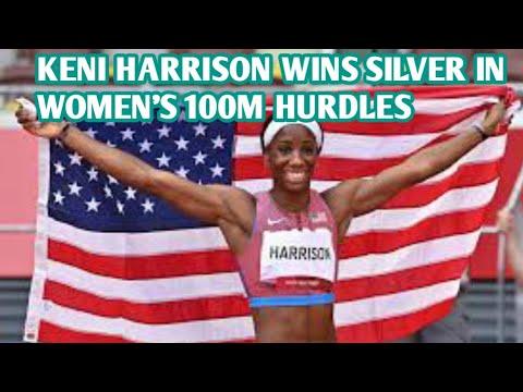 NC hurdler Keni Harrison wins silver in women's 100 hurdles at the ...