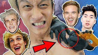 TATTOO YOUTUBERS ON ME (Logan Paul, Jake Paul, RiceGum, PewDiePie) **MOM GOT PISSED**