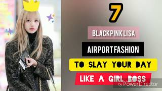 Blackpink Lisa Airport Fashion Styles for Outfit Ideas - Girl Boss Looks