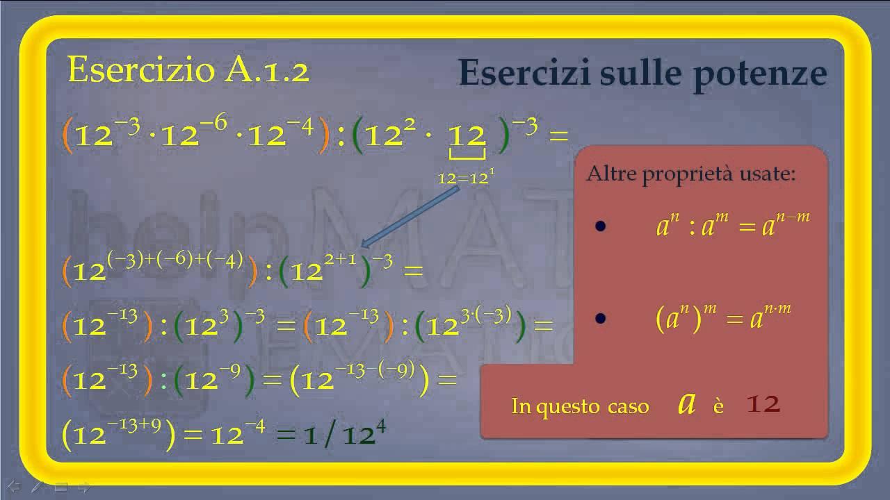 Esercizi Sulle Potenze Matematica Compiti Scuola Youtube