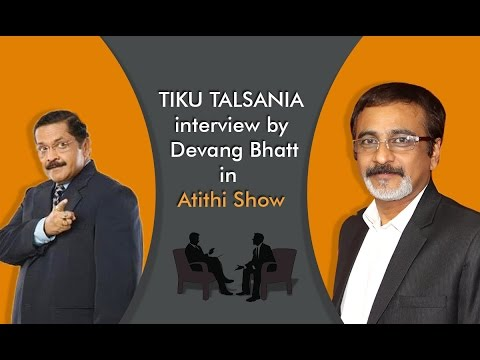 Best Gujarati Comedy Natak Actor Tiku Talsania Interview by Devang Bhatt