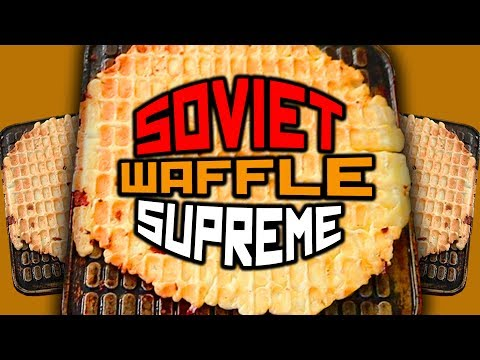Birthday cooking with Soviet waffle iron