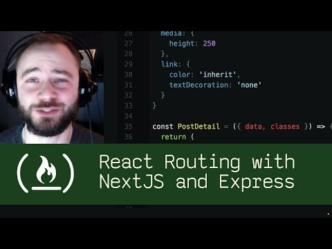 React Routing with NextJS and Express (P5D29) - Live Coding with Jesse