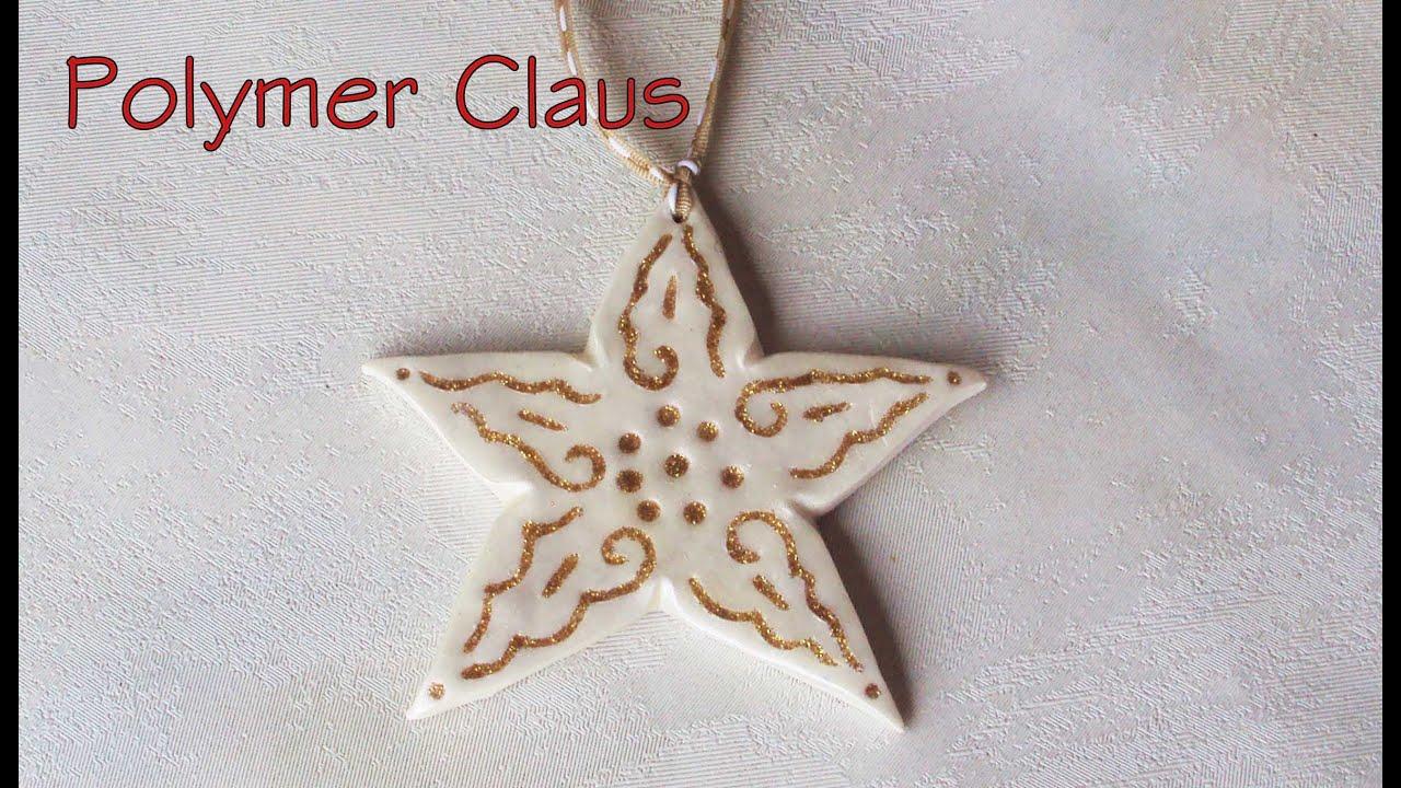 Stelle oro e bianco decorazioni per l 39 albero di natale - Decorazioni stelle di natale ...