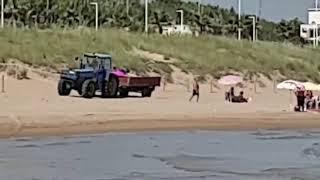 Trattori in spiaggia
