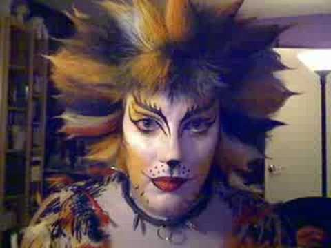 sc 1 st  YouTube & Demeter CATS musical costume makeup Broadway - YouTube