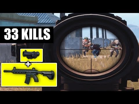 M416 + 6x Scope is INSANE! | 33 KILLS Vs Squad | PUBG Mobile