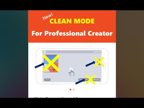 CLEAN MODE for Professional creator!