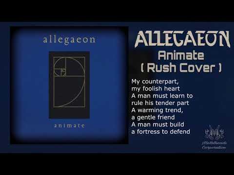 Allegaeon - Animate ( Rush Cover ) (Lyric Video)